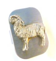 Vintage Large Stainless Steel Aries Ram Zodiac Ring.